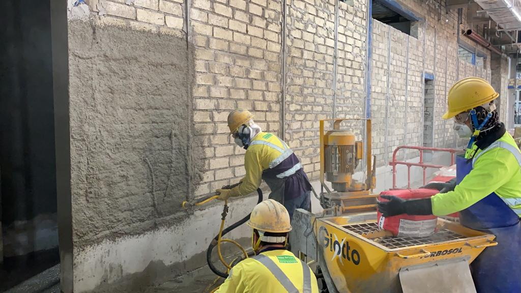 Supply and Installation of Plastering of T1 Car park Multi-functional Facilities Fit out works